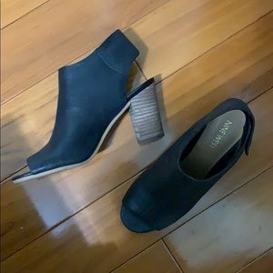 nine west • open toe ankle booties